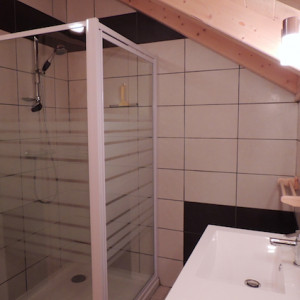 Chalet Valrouanne in Ancelle in the French Alps bathroom
