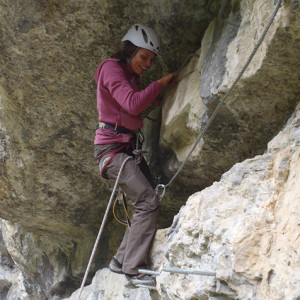 Via Ferrata at Agnielle on the advanced section Sa