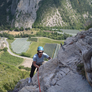 Via Ferrata la Motte du Caire coming round ridge