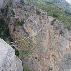 Via ferrata - La Motte du Caire - rope bridge