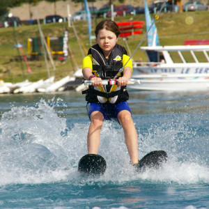 Waterskiing in the Alps