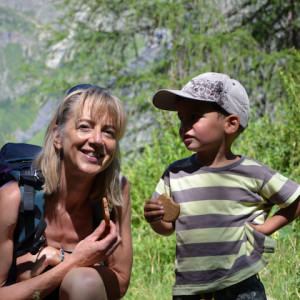 Walking in the French Alps with children