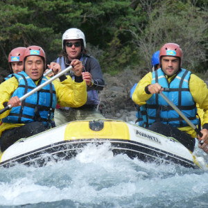 white water rafting on an activity holiday in the Alps