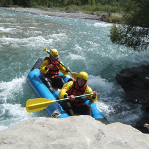 White water fun on an activity holiday in the Southern french Alps
