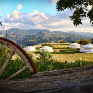 yurts in the Alps