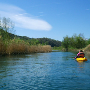 The river durance on sit on top kayaks
