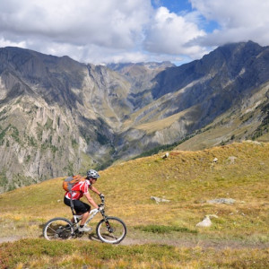mountain biking in the French Alps