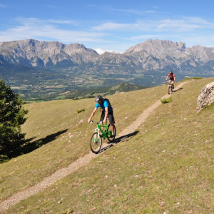 mountain biking the the Champsaur Alps