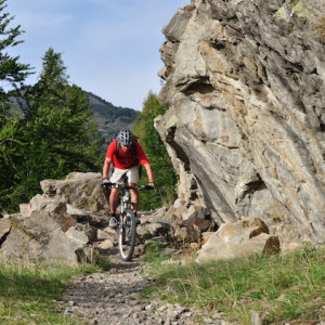 mountain biking big rock
