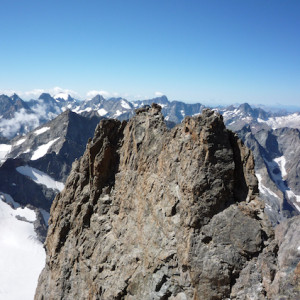 Mountaineering view across the Ecrins