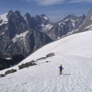 mountaineering glacier in the Ecrins