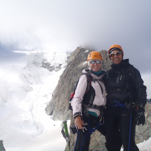 Mountaineering couple Barre des Ecrins