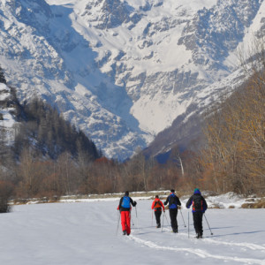 nordic skiing in the Southern french Alps