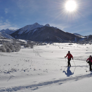 nordic skiing in the Southern french Alps with Undiscovered Alps
