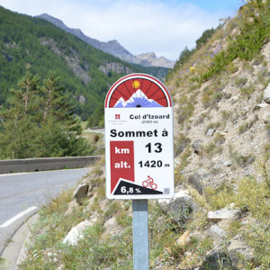 road cycling signs on major circuits