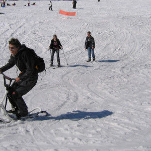 Snowscoot in Orcieres in the Alps