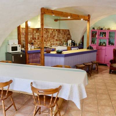 Emile's Farm B&B, Southern French Alps - kitchen and dining room 2.jpg