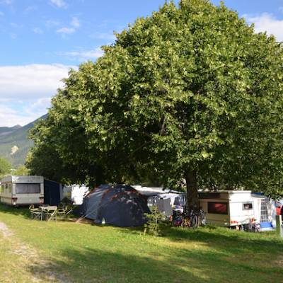 Camping in the Southern French Alps camping pitch
