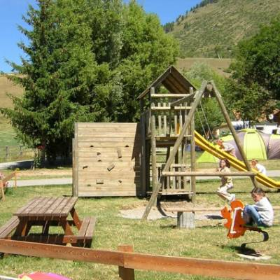 Camping in the Southern French Alps play area