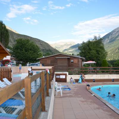 Camping in the Southern French Alps swimming pool