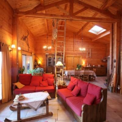 Chalet des Alpages lounge area