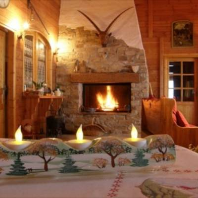 Chalet des Alpages open fire