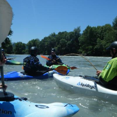 kayak the Alps on the river