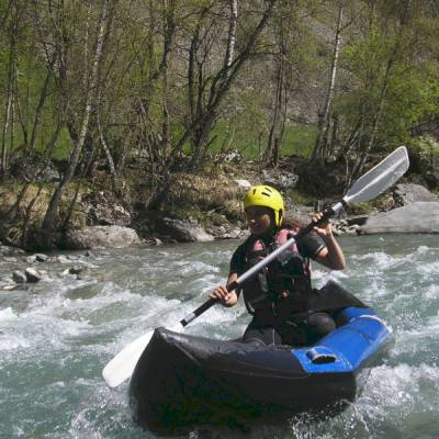 Kayak the Alps beginners course experiencing big white water