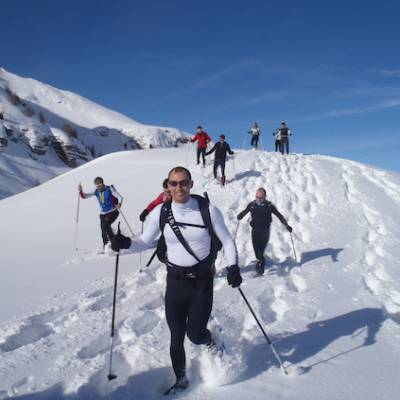 Snowshoeing week in the Alps