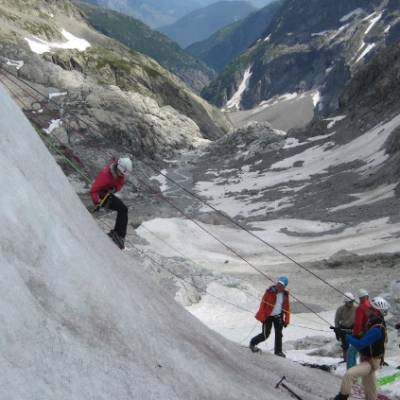 Glacier techniques mountaineering