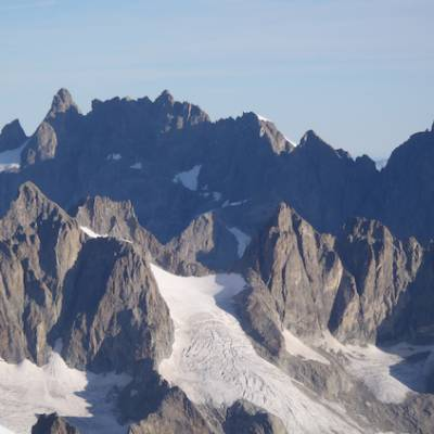 View of mountains from Dome des ecrins