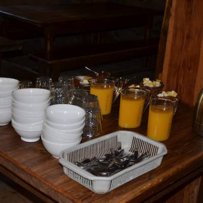 Refuge du tourond breakfast