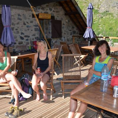 Refuge du Tourond sun terrace