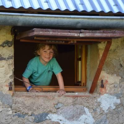 Refuge du Tourond child in window
