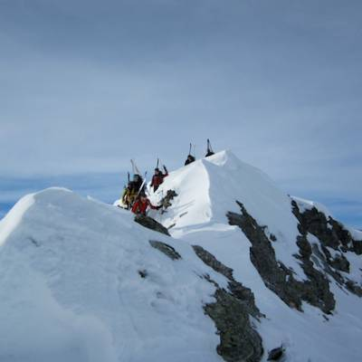 Ski touring close to Rufuge de la Blanche