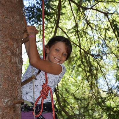 Tree Climbing Annie smiling