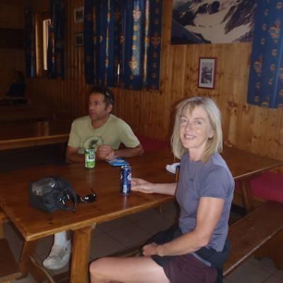 Refuge du Glacier Blanc in the Ecrins dining room