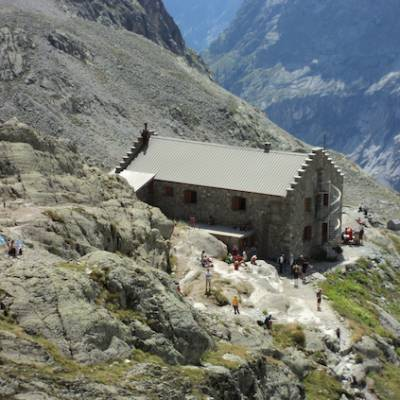 Refuge du Glacier Blanc in the Ecrins