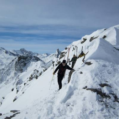 Ski touring in the Queyras