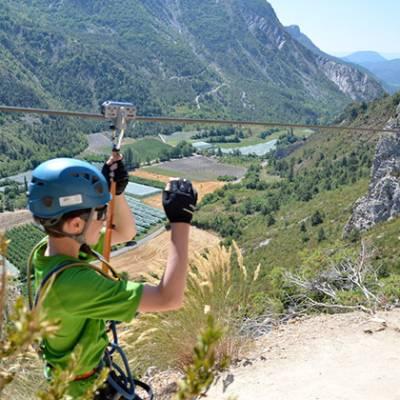 Via Ferrata Tyrolean - La Motte du Caire
