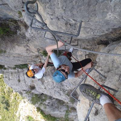 Via Ferrata  - La Motte du Caire - faces on way up