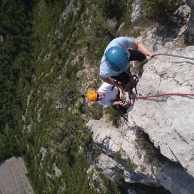 Via ferrata - La Motte du Caire climbing mid view