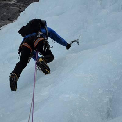 Ice Climbing leading