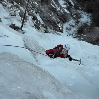 Ice Climbing view from top susie