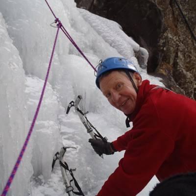 Ice Climbing Grandpa
