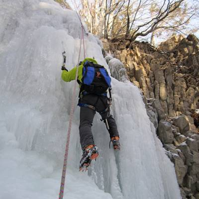 Ice Climbing in Montmaur in devoluy