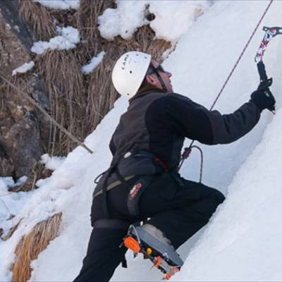 Client Ice Climbing
