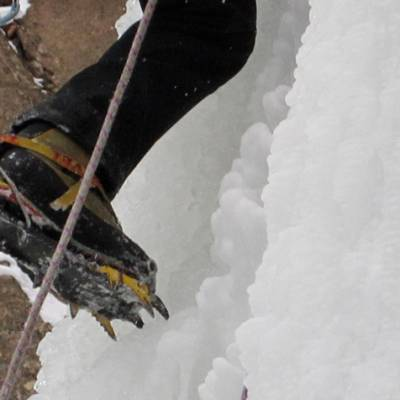 Ice Climbing cramponing