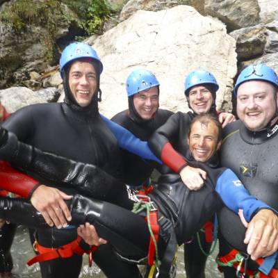 canyoning in the French Alps