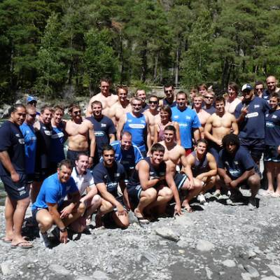 Sale Sharks on an activity weekend in the Alps